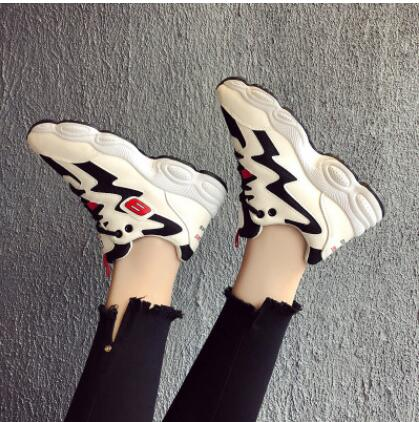 Women's Sneakers Platform Woman Sneaker Breathable Female Canvas Shoes Comfortable p1933Black / 9Buy mate