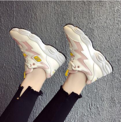 Women's Sneakers Platform Woman Sneaker Breathable Female Canvas Shoes Comfortable p1933Pink / 9Buy mate