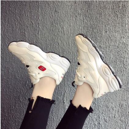 Women's Sneakers Platform Woman Sneaker Breathable Female Canvas Shoes Comfortable p1933White / 9Buy mate