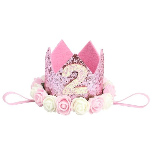 Flower Birthday Crown Party Gifts Hats Kids Hair Bands Accessori