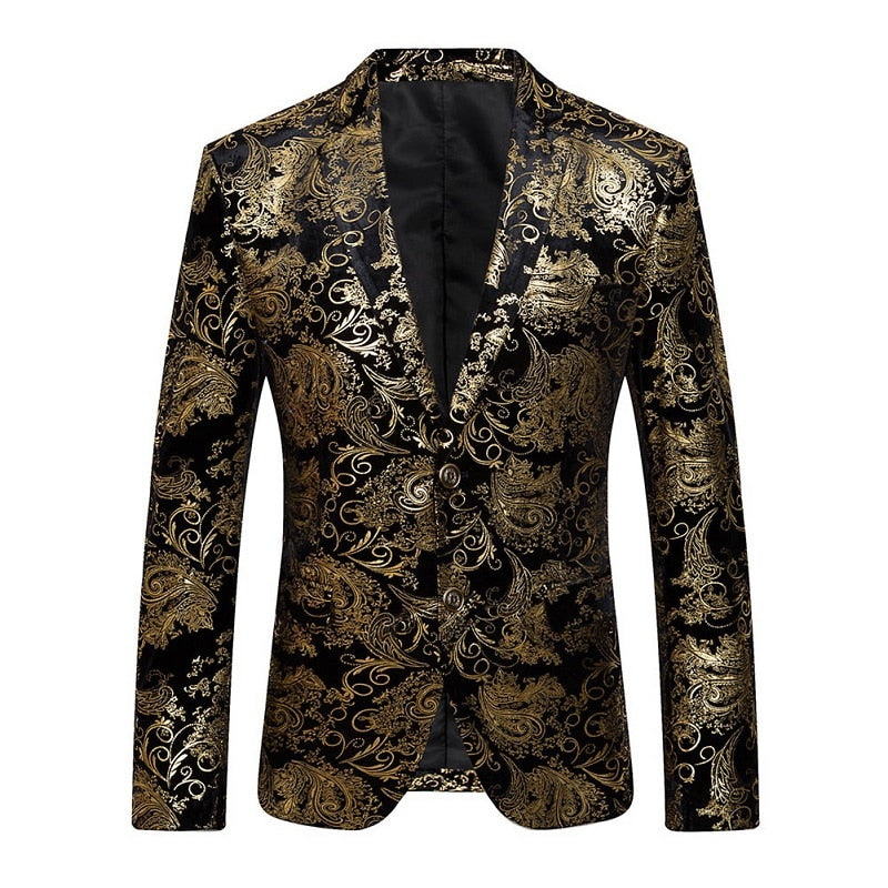 2018 New Male Party Blazers Wedding Blazers Floral Jacket Suit Mens Fashion Single Button Suits p3603Buy mate