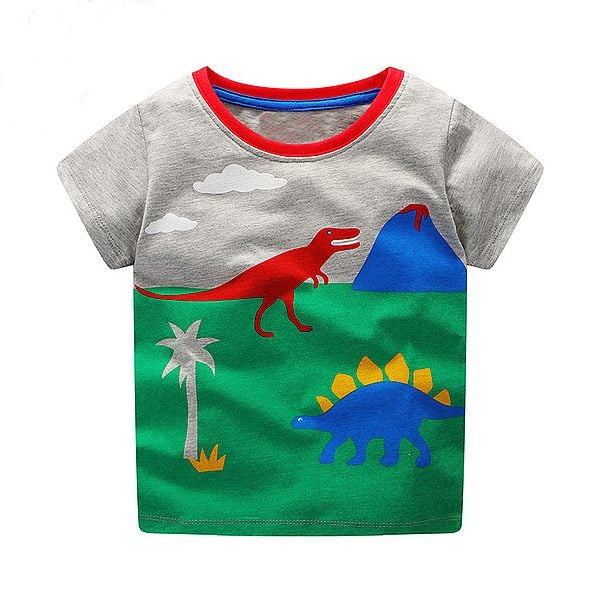 Boys Tops Summer Brand Children T shirts Boys Clothes Kids Tee Shirt Fille 100% Cotton Character p255989 / 6Buy mate