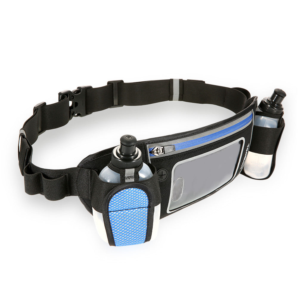 Hydration Running Belt with 2 Water Bottles Lightweight Reflect