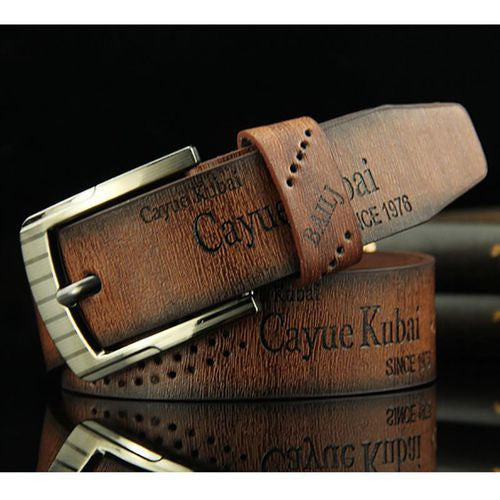 Men's Casual Fashion Retro Antique Hollow Belt p3840free size / coffeeBuy mate