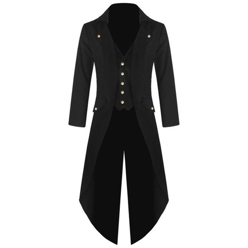 New Fashion Men Single-breasted Tuxedo Solid color Long sleeve Turn-down Collar Men p3601Buy mate
