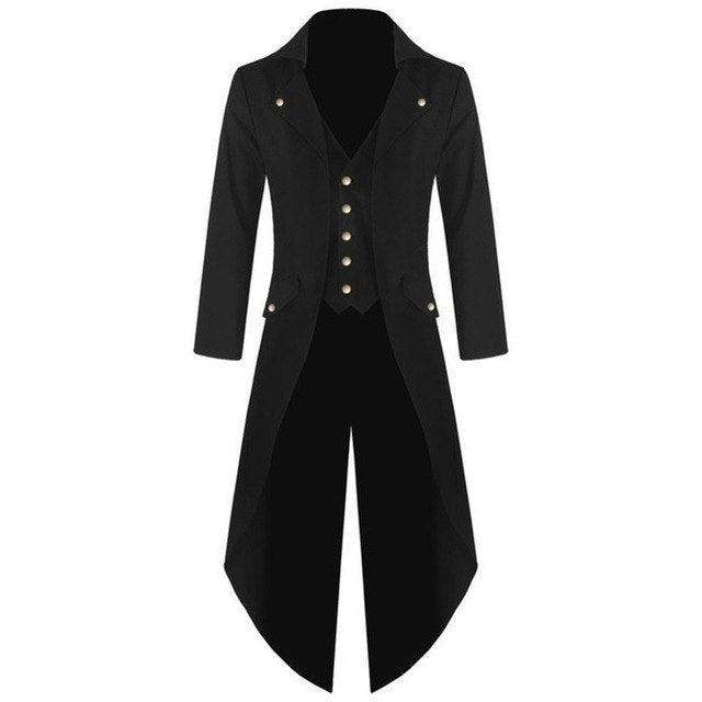 New Fashion Men Single-breasted Tuxedo Solid color Long sleeve Turn-down Collar Men p3601Black / 4XLBuy mate