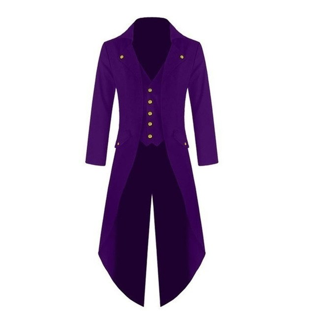 New Fashion Men Single-breasted Tuxedo Solid color Long sleeve Turn-down Collar Men p3601Lavender / 4XLBuy mate