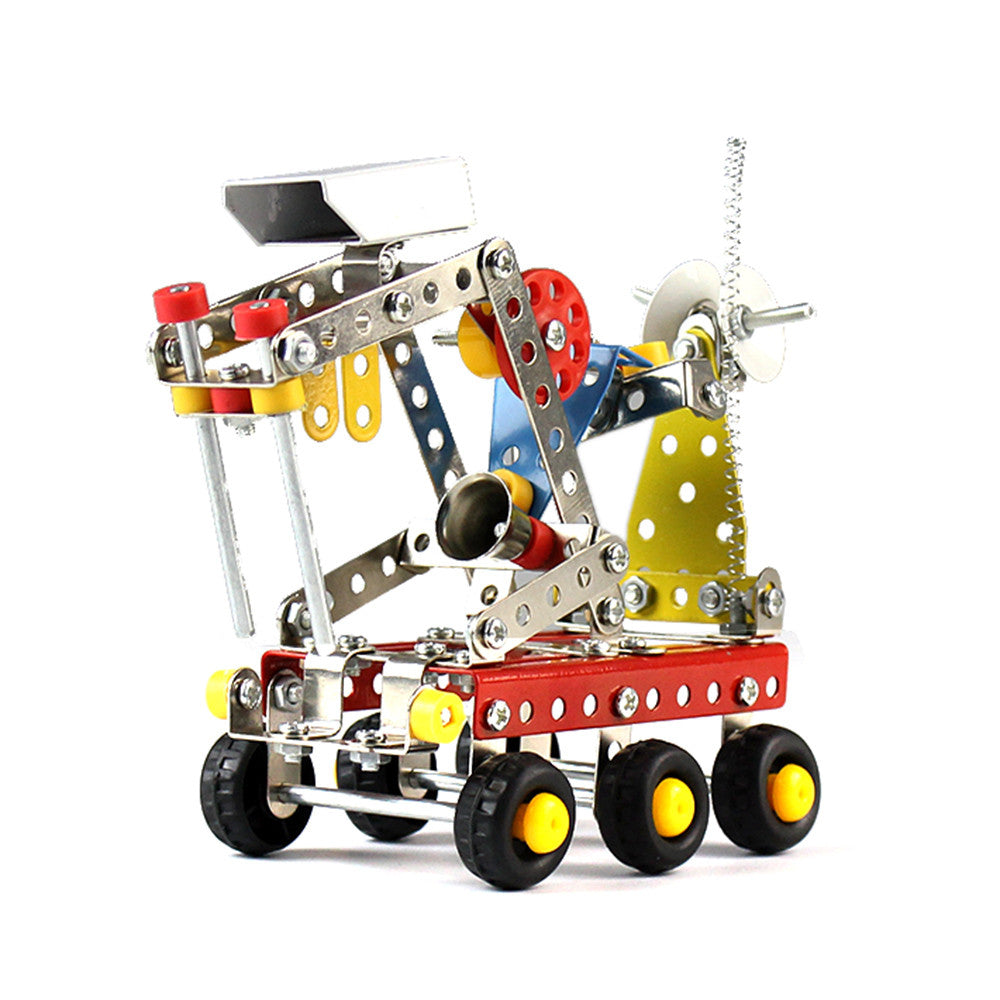 189Pcs Planet Rover Car Intelligent Construction Set 3D Metal Model Kit DIY Gift p2736Default TitleBuy mate