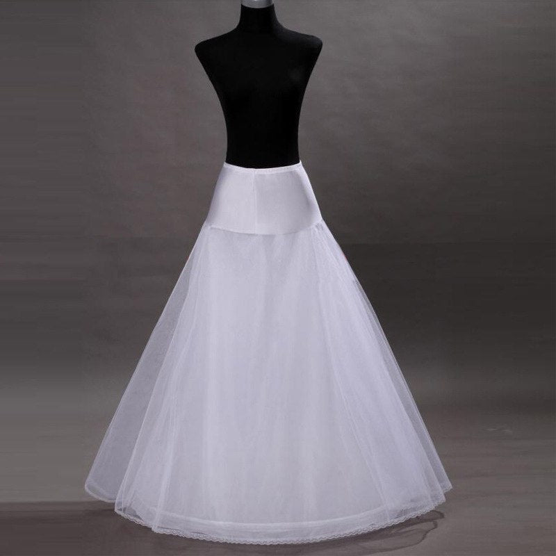 2018 New Arrives 100% High Quality A Line Tulle Wedding Bridal Petticoat Underskirt Crinolines for Wedding Dress p3083Buy mate
