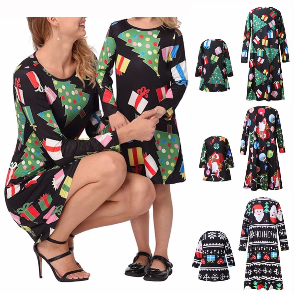 Family matching outfits dress Mother daughter dresses Fashion Floral Print Short sleeve p2511Buy mate