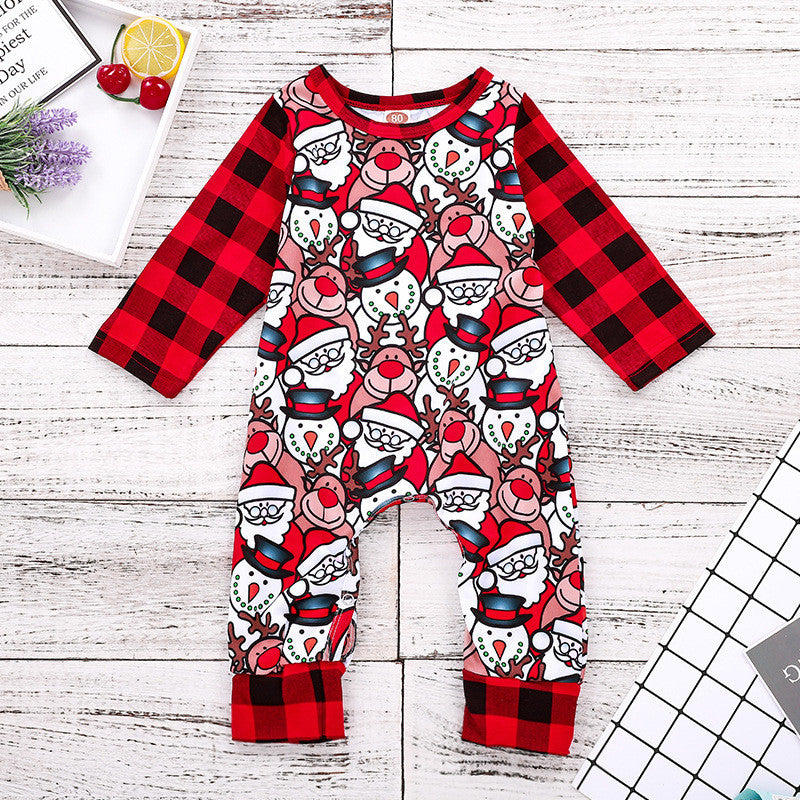 Baby  Boy Chrismas Clothes Winter Long Sleeve Suits p2605Red / 100cmBuy mate