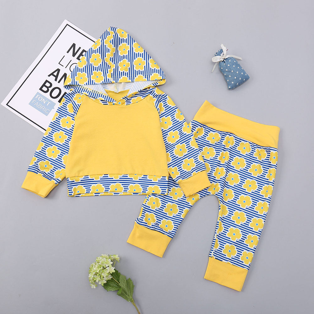 Infant Clothing Set Winter 2Pcs Going Home Newborn Boy Outfits p2592Yellow / 100cmBuy mate