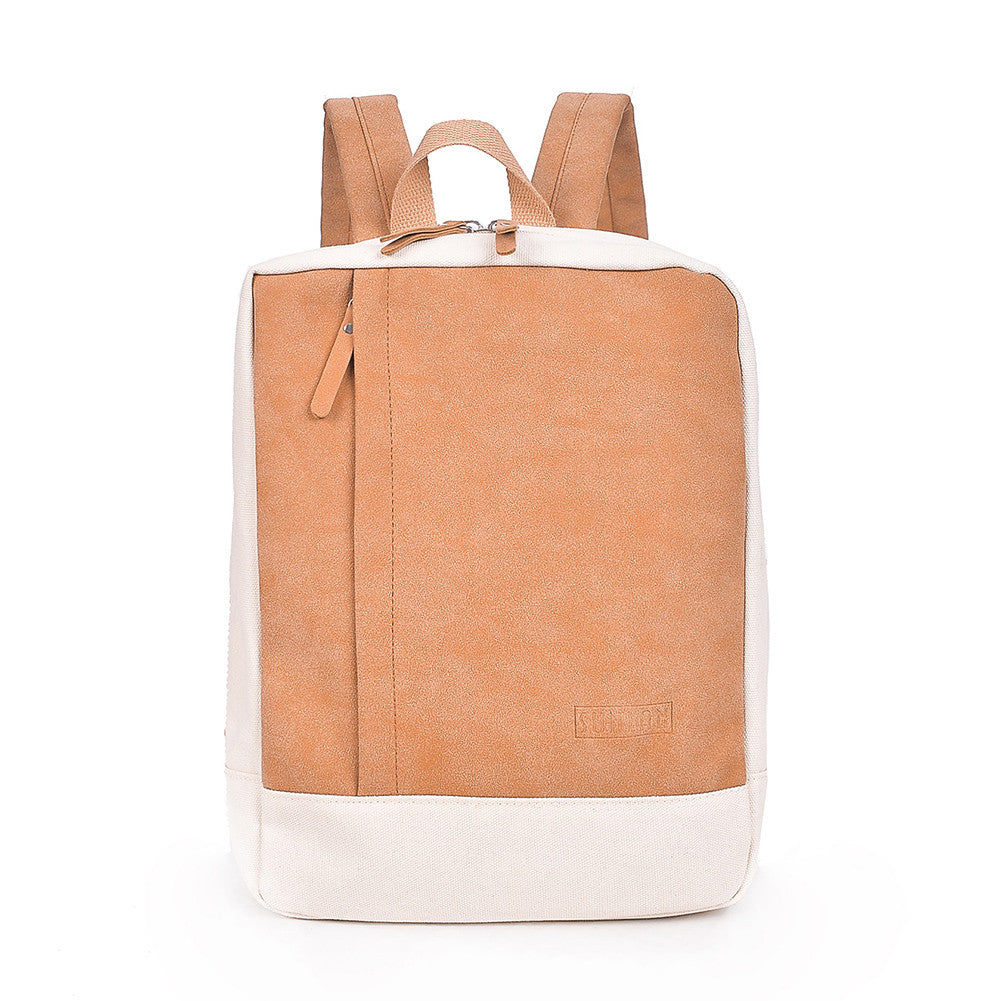 Fashion Women Men Canvas Backpack Bags Two Tone Student School Laptop Casual p2714