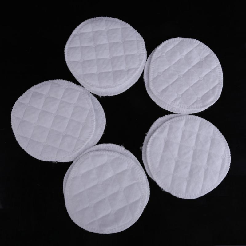 10 Pcs/Set Reusable Cotton Nursing Pads Mommy Feeding Breast Pad