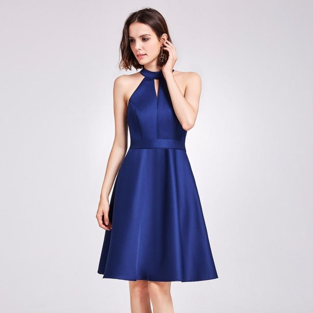 Cocktail Dresses  Sleeveless High Low Above Knee Asymmetrical Round