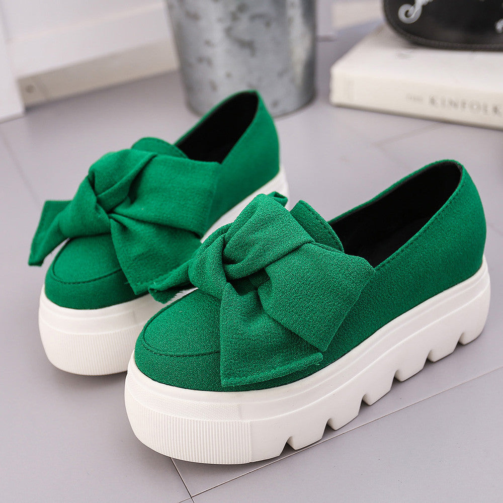 Womens Flats Fashion Bow Lady Flats Loafers Ladies Slip On Platform Shoes p1910Buy mate