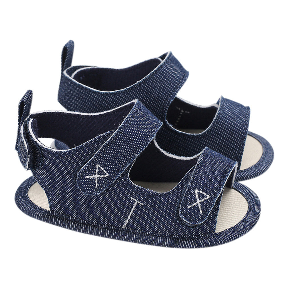 Baby Boys Shoes Canvas Cloths Sandal Soft Sole Non-Slip