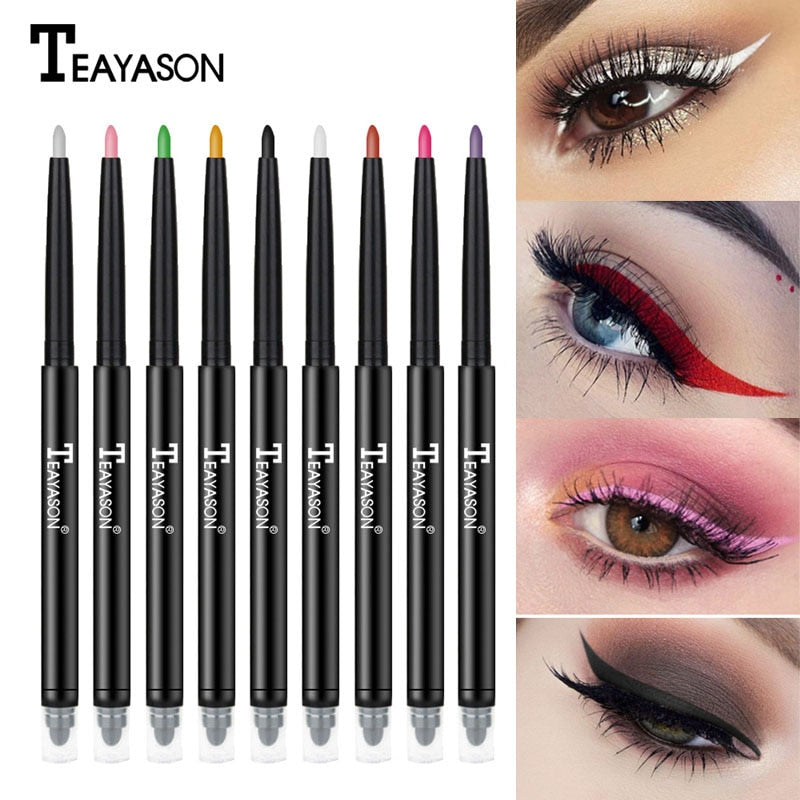 Colorful Matte Eyeliner Eye Pencil Makeup Crayon White Black Eye Liner Eyeshadow p3222Buy mate