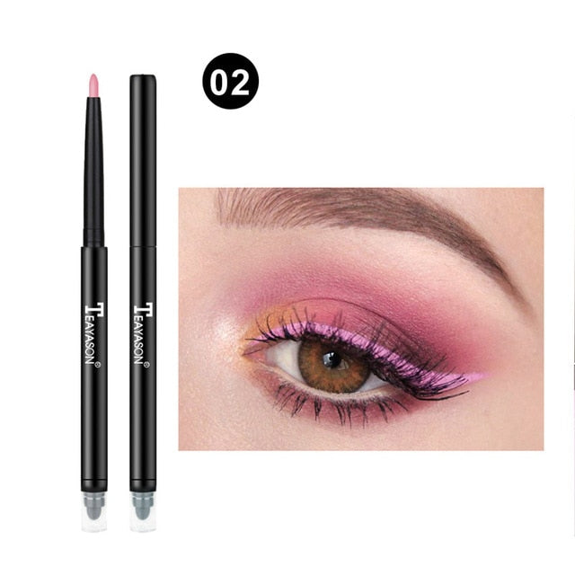 Colorful Matte Eyeliner Eye Pencil Makeup Crayon White Black Eye Liner Eyeshadow p32222Buy mate