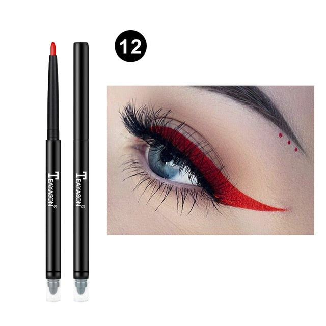 Colorful Matte Eyeliner Eye Pencil Makeup Crayon White Black Eye Liner Eyeshadow p322212Buy mate