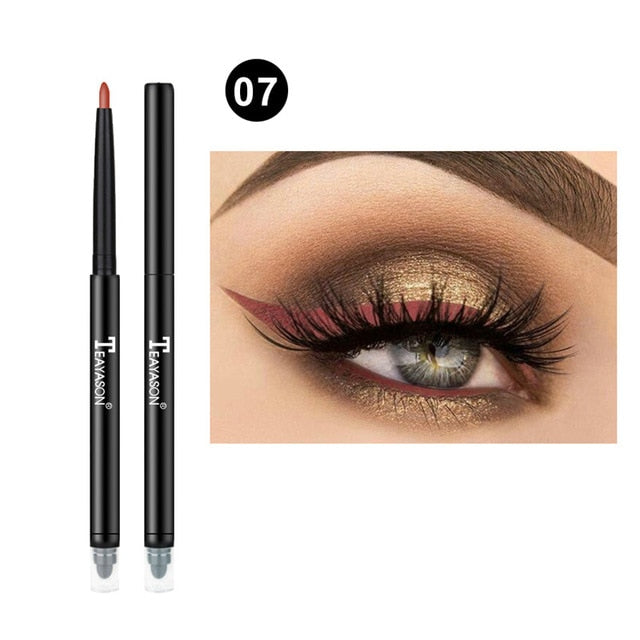 Colorful Matte Eyeliner Eye Pencil Makeup Crayon White Black Eye Liner Eyeshadow p32227Buy mate