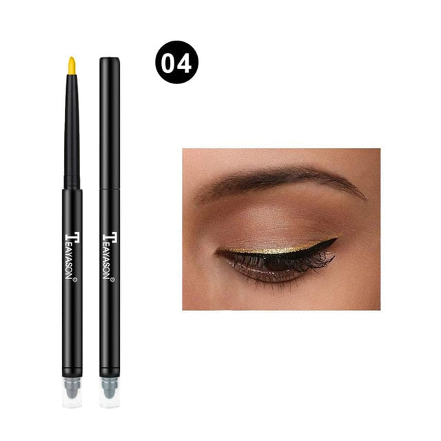 Colorful Matte Eyeliner Eye Pencil Makeup Crayon White Black Eye Liner Eyeshadow p32224Buy mate