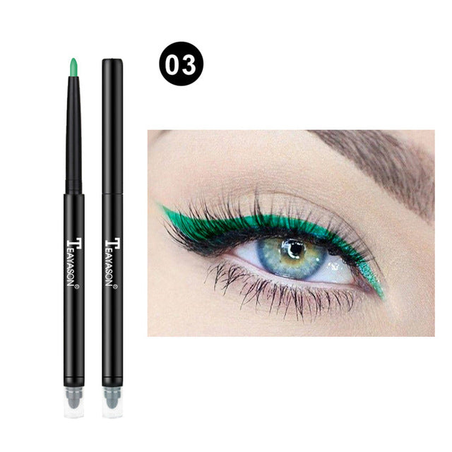 Colorful Matte Eyeliner Eye Pencil Makeup Crayon White Black Eye Liner Eyeshadow p32223Buy mate