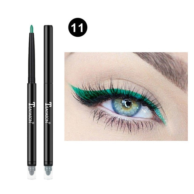 Colorful Matte Eyeliner Eye Pencil Makeup Crayon White Black Eye Liner Eyeshadow p322211Buy mate