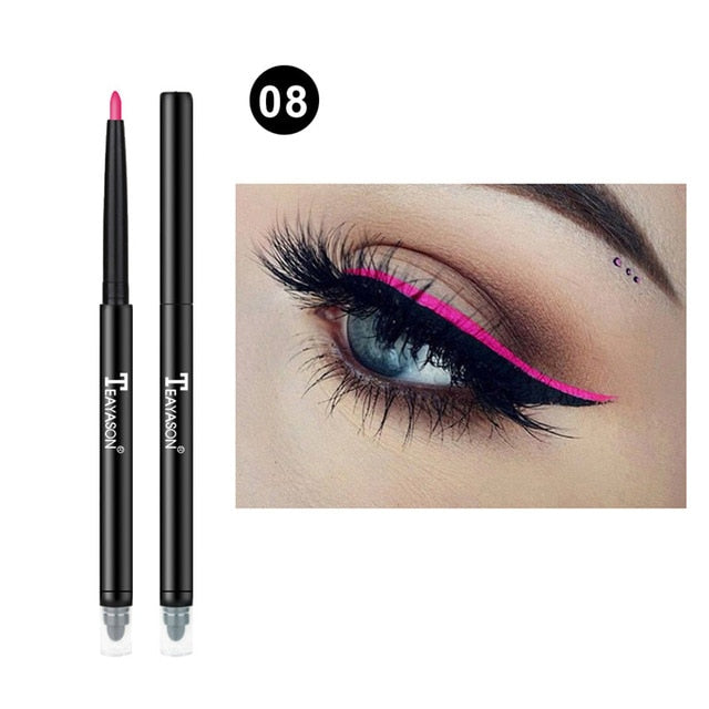 Colorful Matte Eyeliner Eye Pencil Makeup Crayon White Black Eye Liner Eyeshadow p32228Buy mate