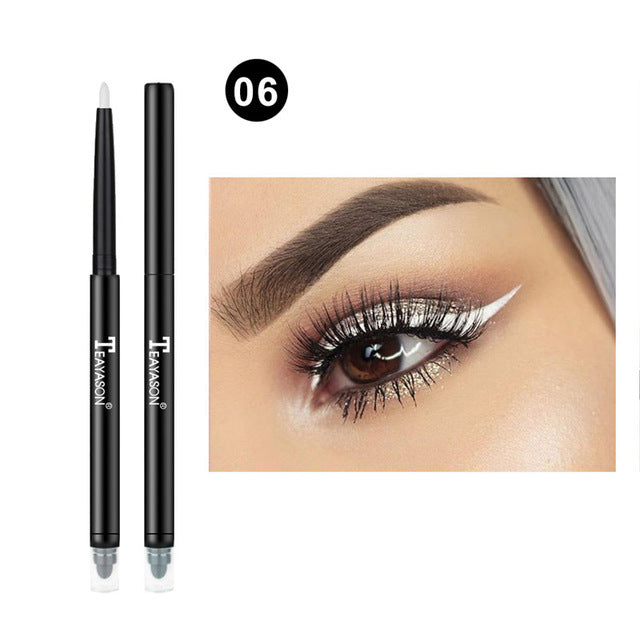 Colorful Matte Eyeliner Eye Pencil Makeup Crayon White Black Eye Liner Eyeshadow p32226Buy mate