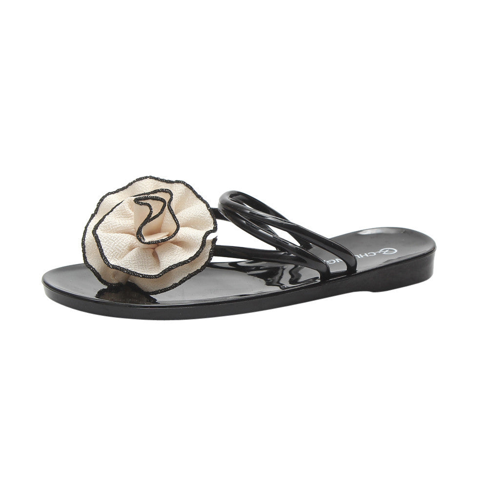 Women Flowers Summer Sandals Slipper Indoor Outdoor Flip-flops