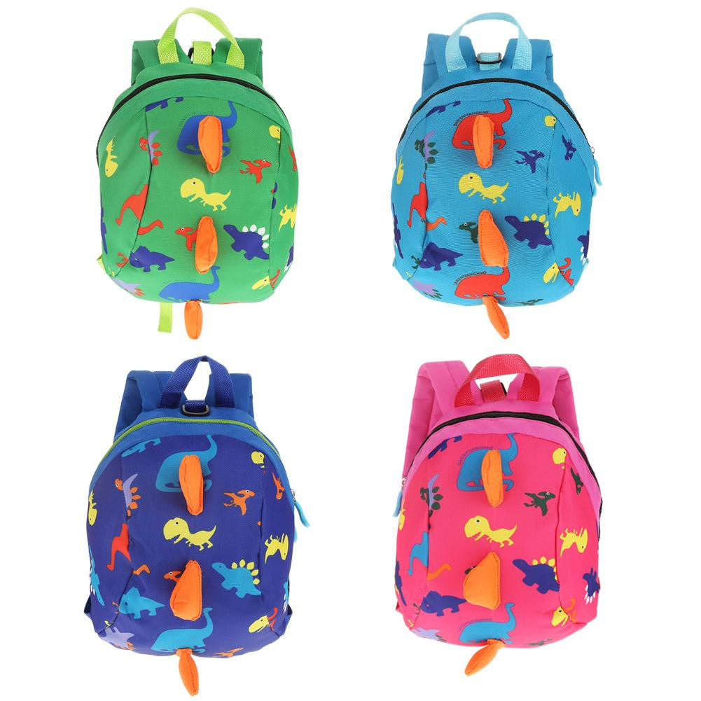 Cute Cartoon Dinosaur Baby Safety Harness Backpack Toddler Anti-lost Bag Children Schoolbag p2644
