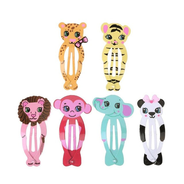 Little Girls Cute Cartoon Animal Hairpins Kid Headwear Hair Clip