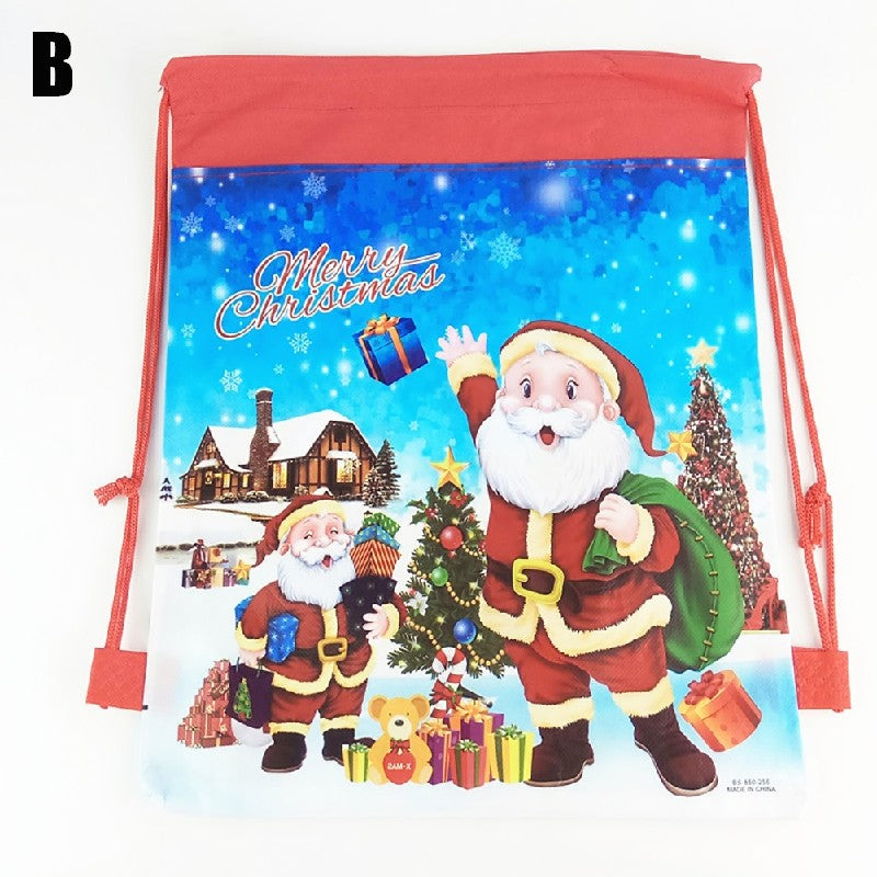 Christmas Gift Bag Cartoon Bag  Children's Bag Party Drawstring Bag p2640