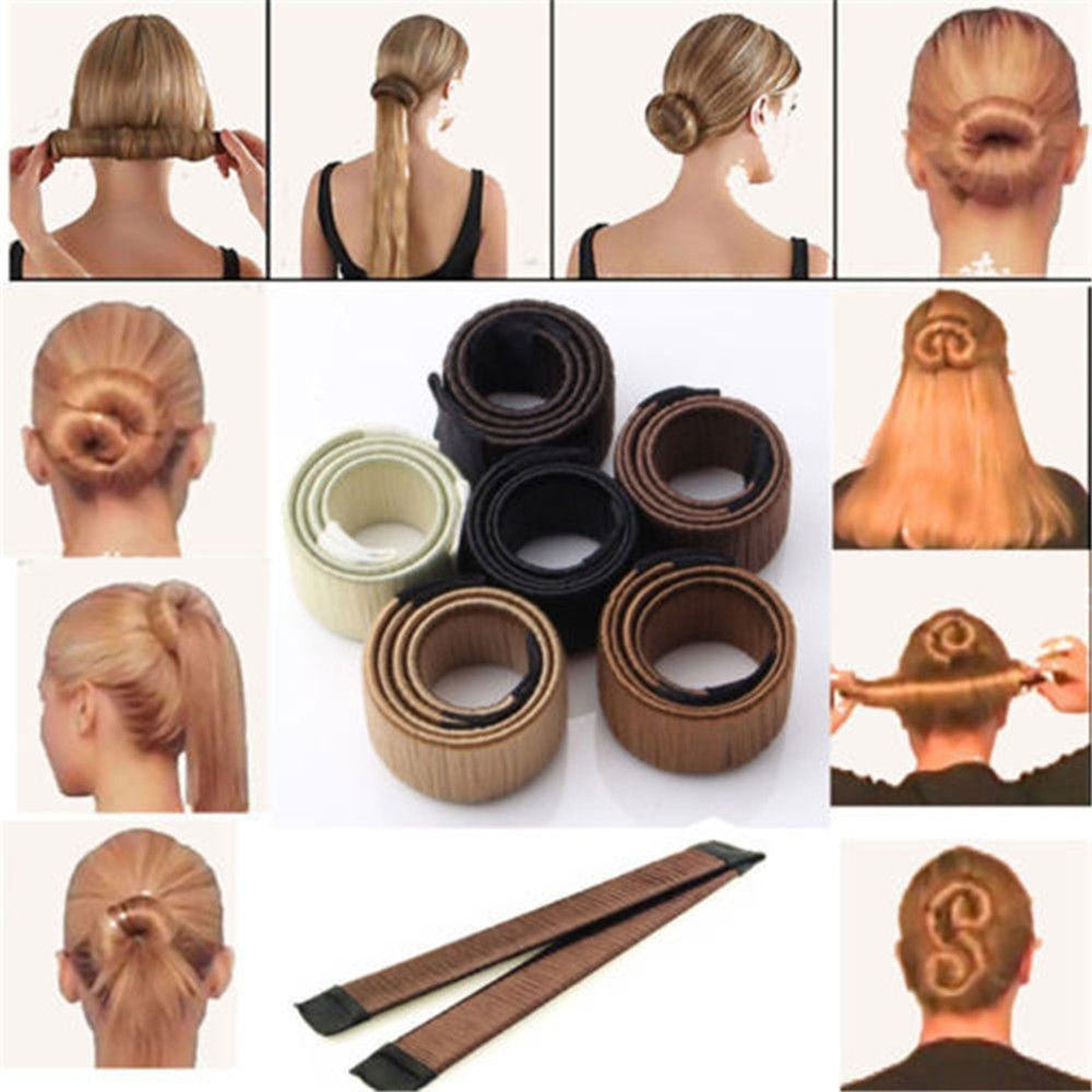Magic Hair Styling Easy Bun Maker Hair Hairband Donuts  Hair Tools