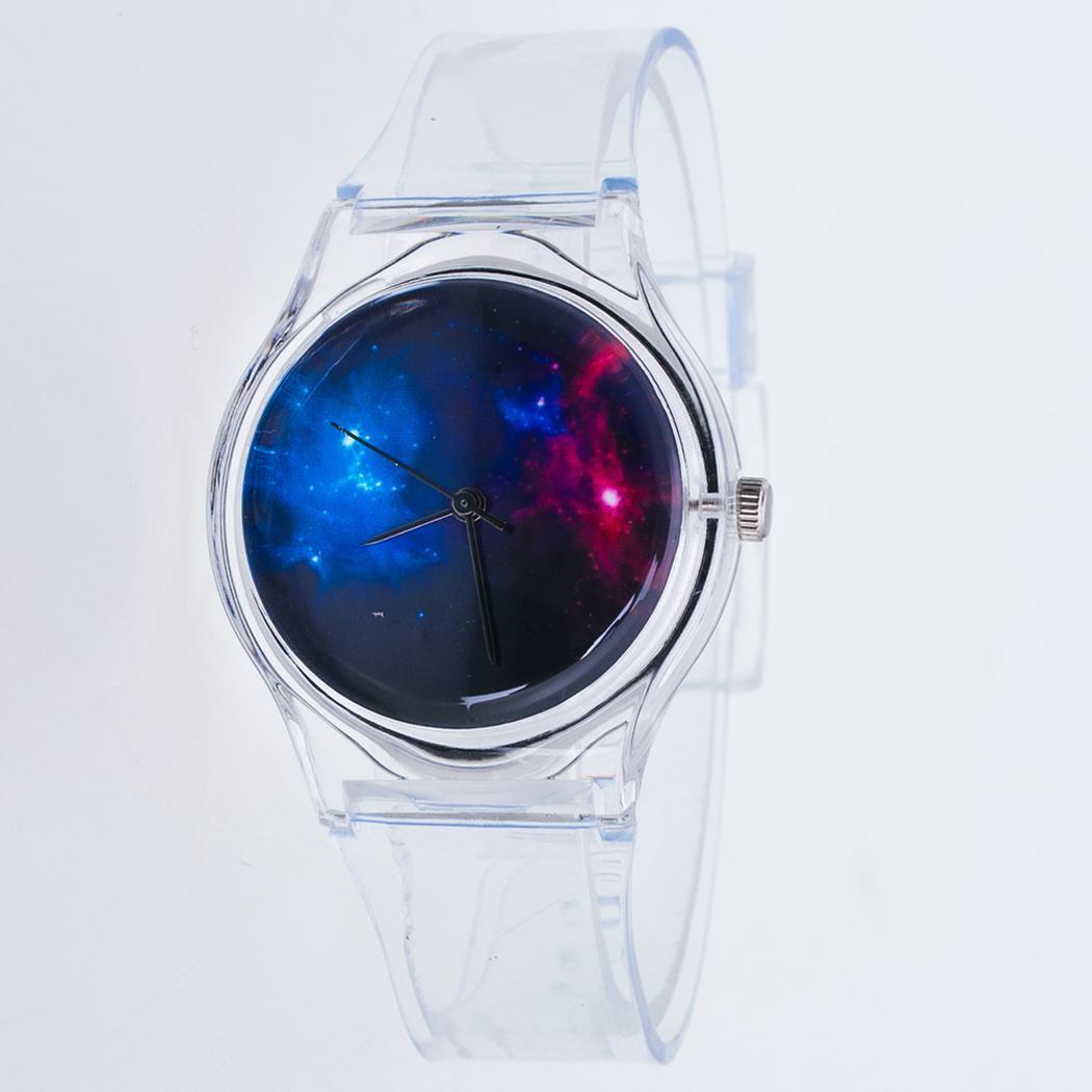 Women Round Jelly Color Quartz Wristwatch Analog Buckle  p3940