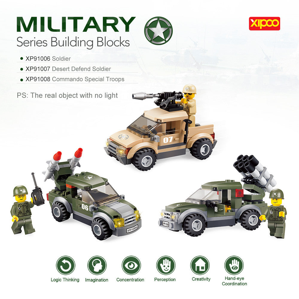 3 Sets XIPOO Military Series XP91006 Soldier XP91007 Desert Defend Soldier XP91008 p2730Default TitleBuy mate