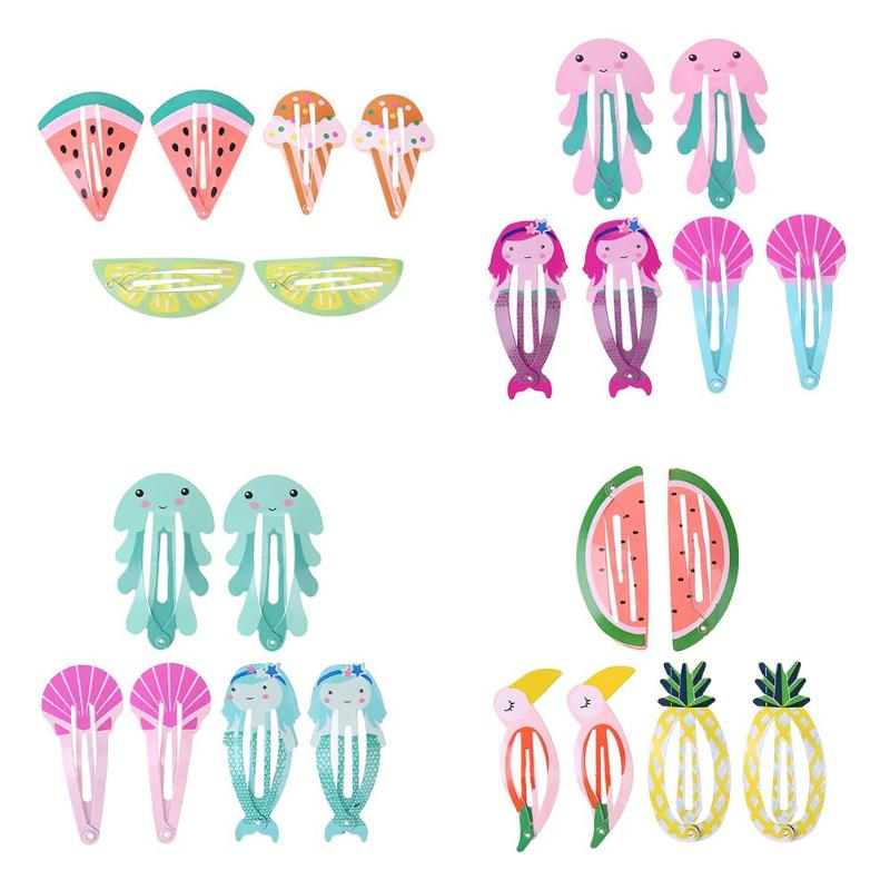 6pcs/Set Kids Girls Lovely Hairpins  Cute Hair Clip Kids Hairpin Hair