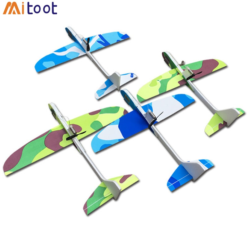 DIY Kids Toys Capacitance Hand Throw Flying Glider Planes Foam Aeroplane Model p2630