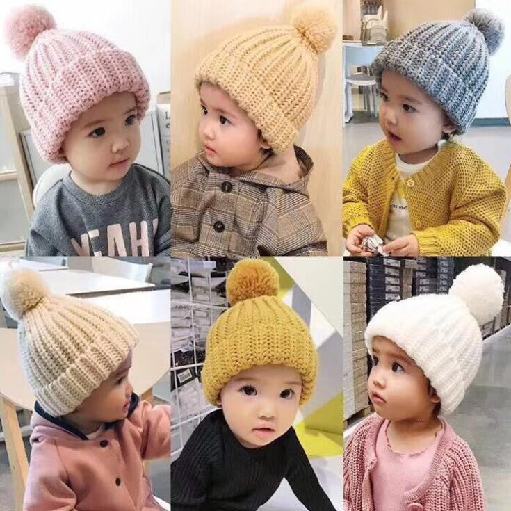 Baby Knit Hats Soft Warm Infant Toddler Cute Babies Hat p3801