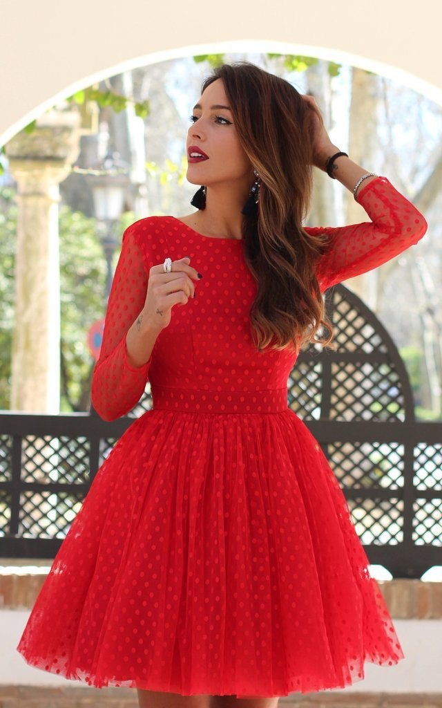 Sleeve Ball Gown Red Homecoming Dresses   Arrival Graduation Short