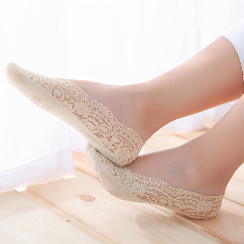 Women Socks Summer Lady Cotton Lace Short Ankle Female
