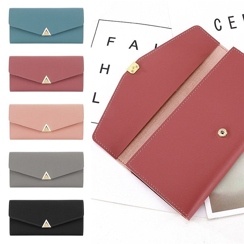 New Women Wallets Large Capacity Cute Card Hold Long Purses 5 Colors p2776