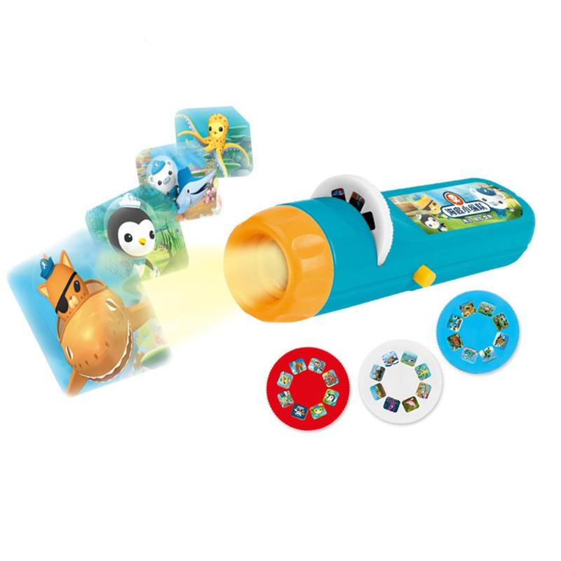 Cartoon Baby Sleeping Story Projector Flashlight Light Toy Projection Lamp p2039