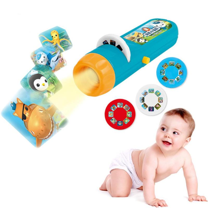 Cartoon Baby Sleeping Story Projector Flashlight Light Toy Projection Lamp p2039Buy mate