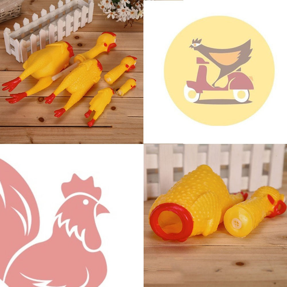 Screaming Chicken Squeeze Sound Toy Pets Shrilling Tool Funny