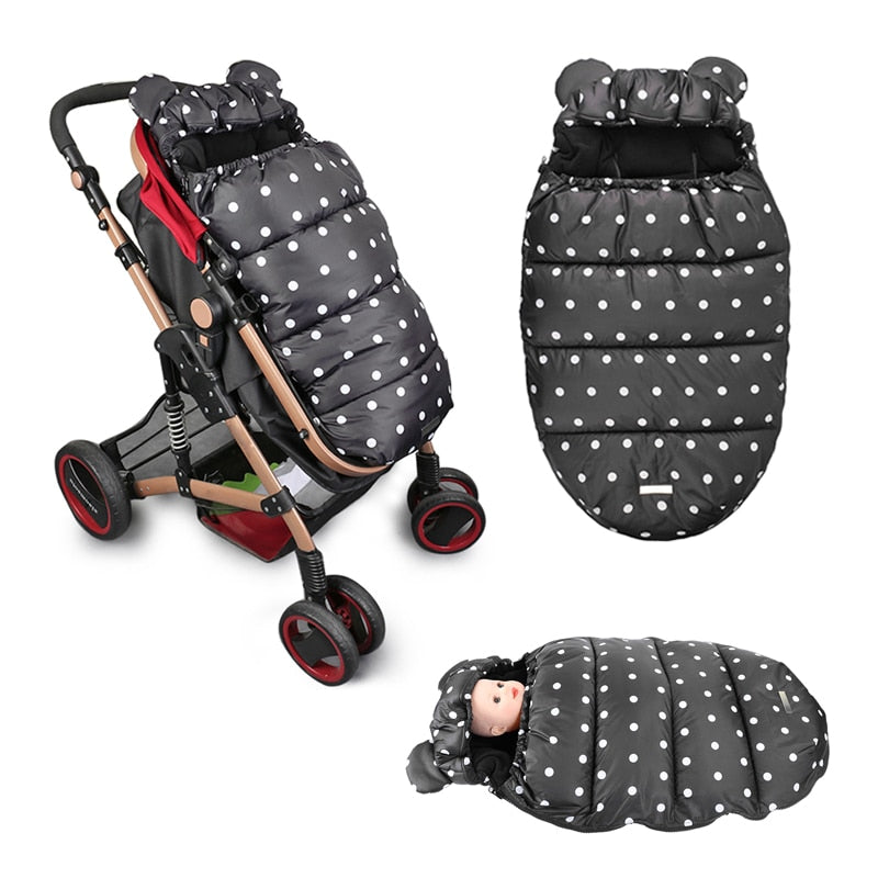 Baby Stroller Sleeping Bag Winter thicken Warm Sleepsacks For