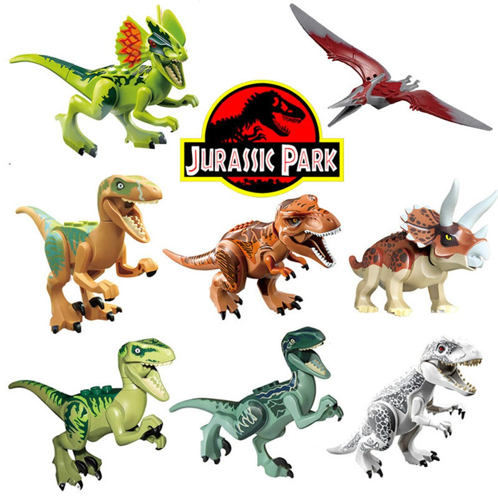 8pcs Jurassic Dinosaur Tyrannosaurs  Building Blocks  Toys for Kids