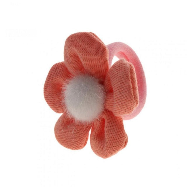 Solid Cute Flower Accessories Geometric Hair 1 4inch Girls Hair