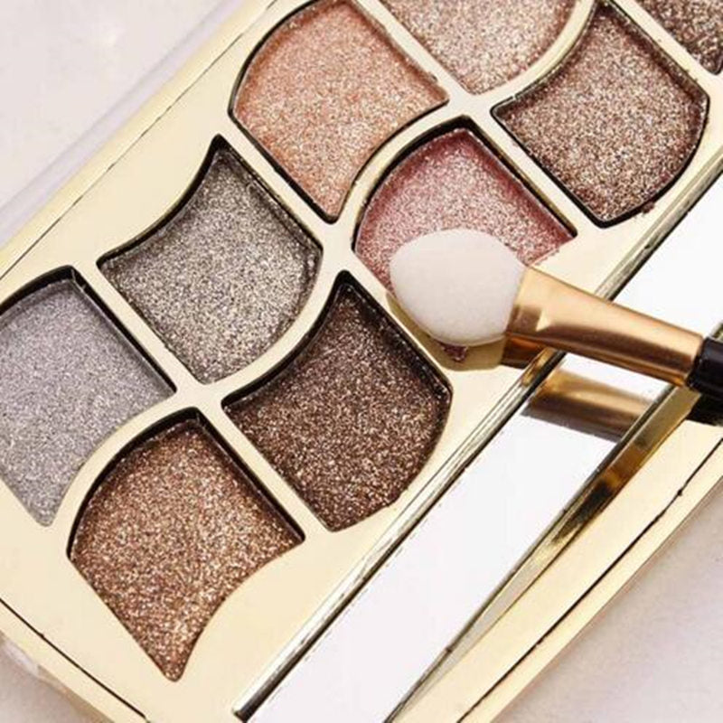 Eyeshadow Palette Gold Smoky Cosmetics Makeup Palette Diamond Bright Glitter Eye Shadow P3396Buy mate